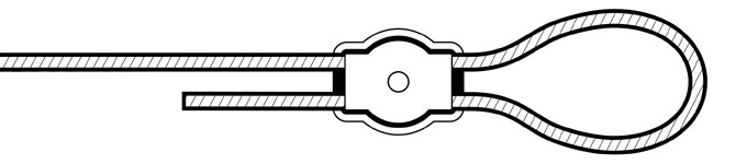 Simplex wire rope clip - fixing plate