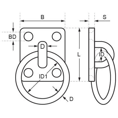 Square Ring Deck Plate Diagram