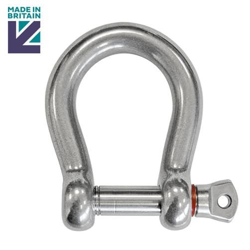 Stainless Steel Bow Shackle with Shake Proof Pin