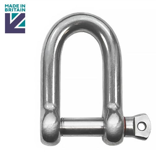 Stainless Steel D Shackle with Shake Proof Pin