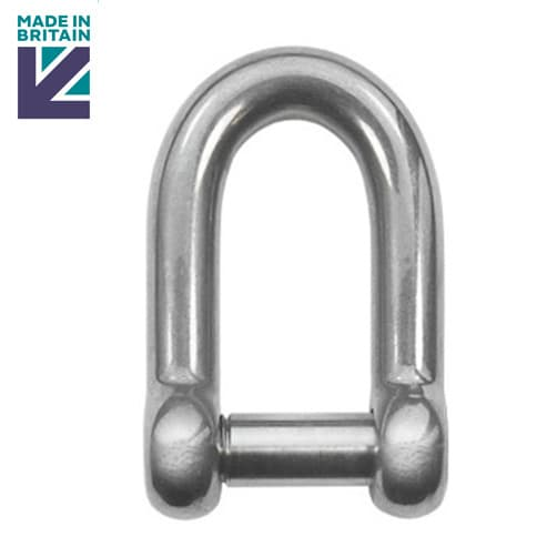 Stainless Steel D Shackle with Socket Head Pin