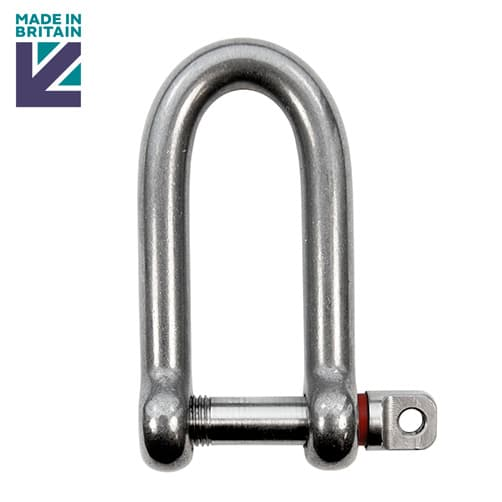 Stainless Steel Long D Shackle with Shake Proof Pin