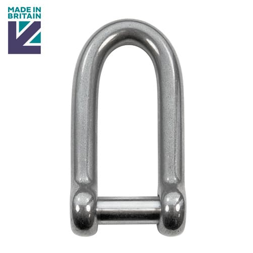 Stainless Steel Long D Shackle with Socket Head Pin