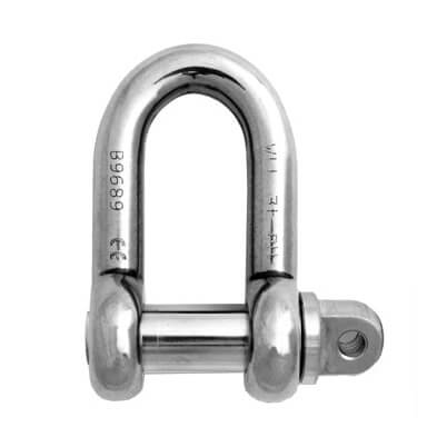 Stainless Steel D Shackle - Super Duplex