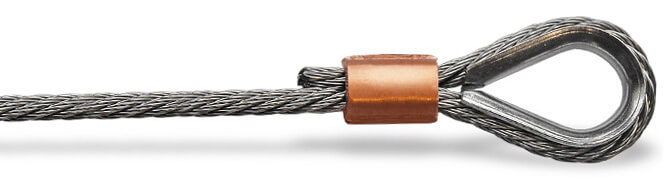 Stainless Steel Thimble Creating Reinforced Loop In Wire Rope
