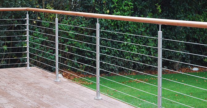 Tubular Mount Balustrade Cable Railing Made To Measure