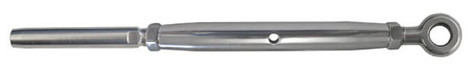 Closed Body Turnbuckle with Eye to Swage Stud Ends - 316 Stainless Steel