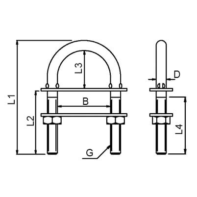 U Bolt - Diagram