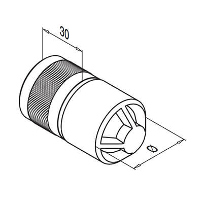 Corrosion Resistant Ultra Range Tube Connector Technical Drawing