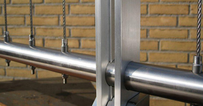 Vertical Balustrade Wire, Stainless Steel, Tube Mount, Size and ...