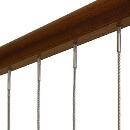 Vertical Balustrade Wire, Timber Mount - Assembled