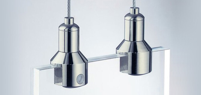 Vertical Display Holders with Cable Tensioners