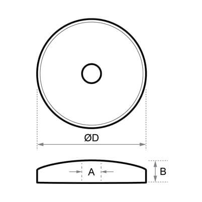 Cover Disc Dimensions- 3mm x M10 Posilock Display System