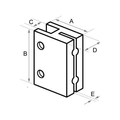 Display Holder Dimensions - Posilock Display System