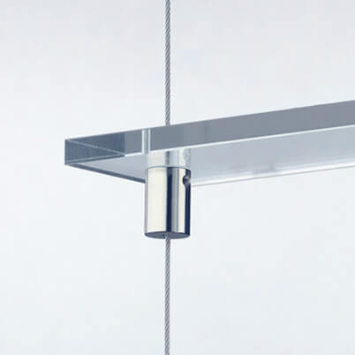 Shelf Supports on 1.5mm Stainless Steel Wire