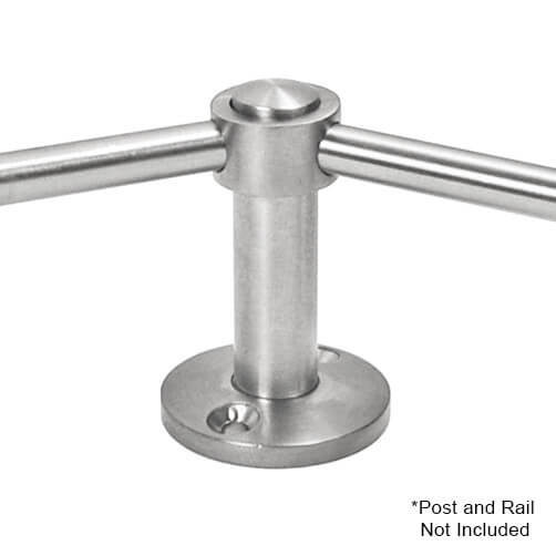45 Degree Post Adapter with 10mm Bar Railing