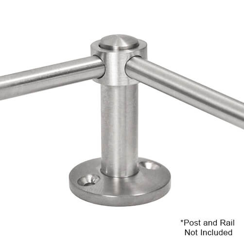 90 Degree Post Adapter with 10mm Bar Railing