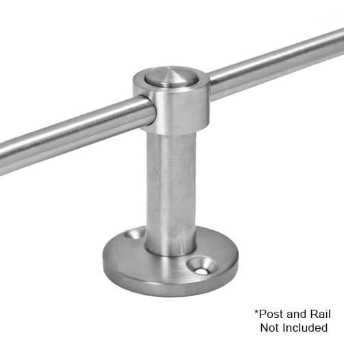 Adapter for Mid Post with 6mm Bar Railing