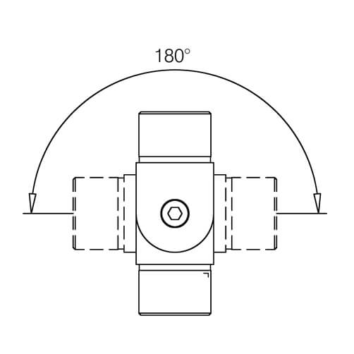 Tube Connector - Adjustable Elbow - 180 Degree Movement