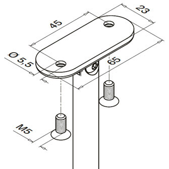 Adjustable Handrail Flat Fixings