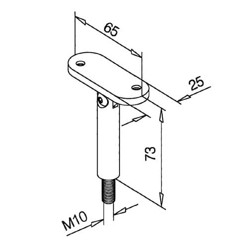 Adjustable Flat Handrail Pillar Dimensions