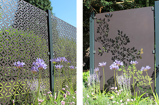 3 Panel Aluminium Decorative Garden Screen Starter Kits