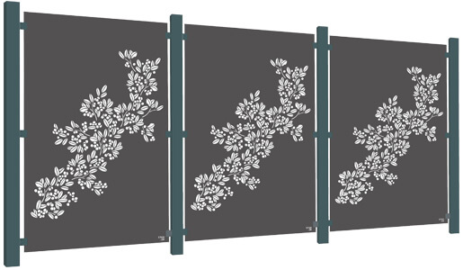 3 Panel Aluminium Decorative Screen Starter Kits - Stark and Greensmith