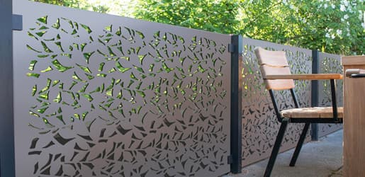 Decorative Garden Screens - Powder Coated Aluminium