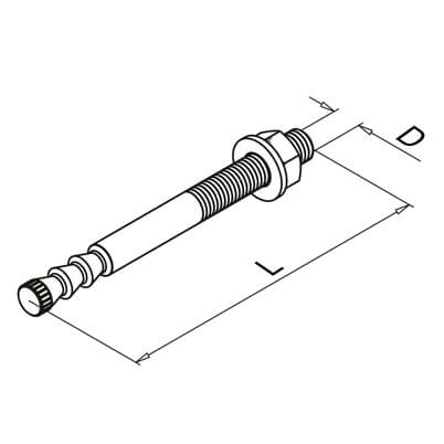 Stainless Steel Anchor Bolt - Diagram