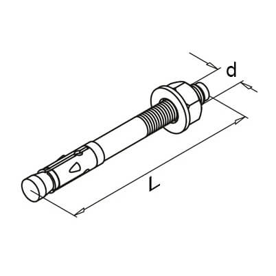 Threaded Expansion Anchor Bolt - Dimensions