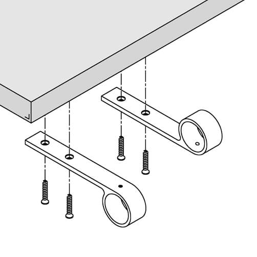 Arm Rail Bracket - Bar Railing - Position