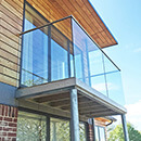 Ashford Balcony, Glass Balustrade