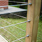 Flat Mount Wire Balustrade