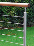Made to Measure - Tube Mount Wire Balustrade