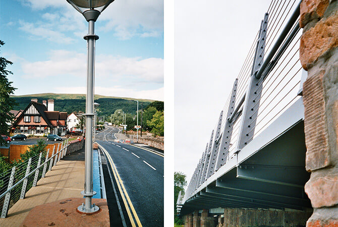 Balustrade Wire Installation - Balloch Bridge
