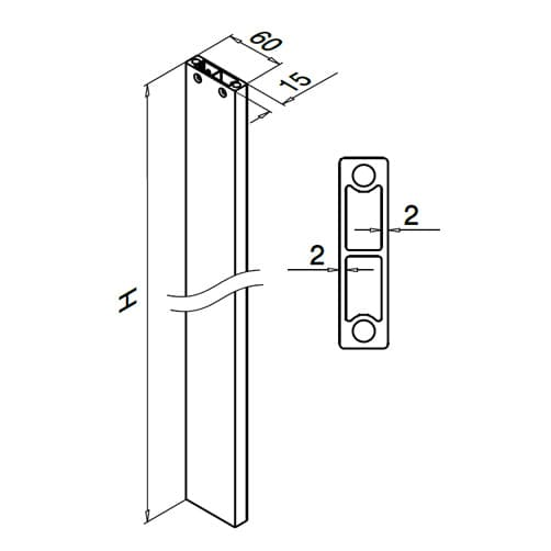 Baluster Post - Dimensions