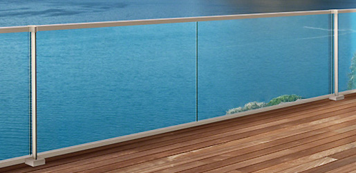 Post and Channel Hybrid Glass Balustrade Overview