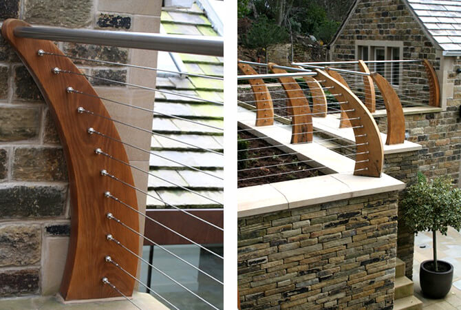 Balustrade Wire Positioning