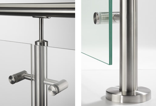 Stainless Steel Glass Balustrade Spiders Styles