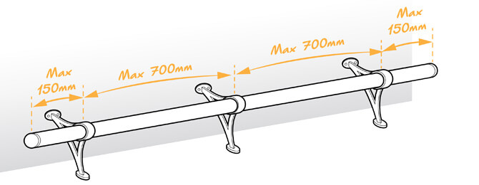 Bar Foot Rail Combination Bracket Position