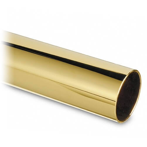 Tube - 50.8mm Diameter - Brass Finish