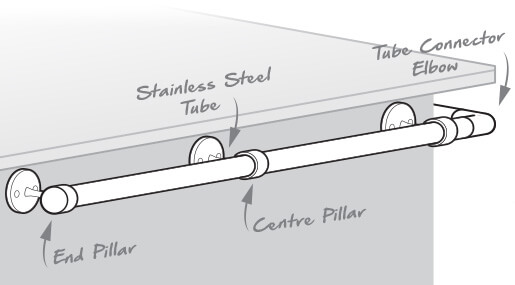 Bar Railing Bracket Components