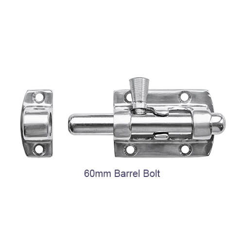 Barrel Bolt - Stainless Steel