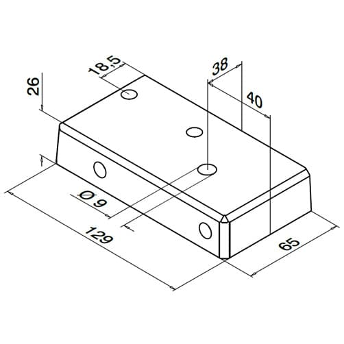 Base Flange - Dimensions - Easy Alu Balustrade