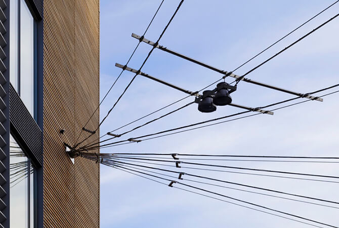 Catenary Lighting Installation
