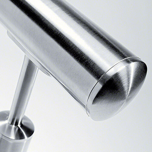 Easy Hit Bevelled End Cap For Stainless Steel Balustrade - Example