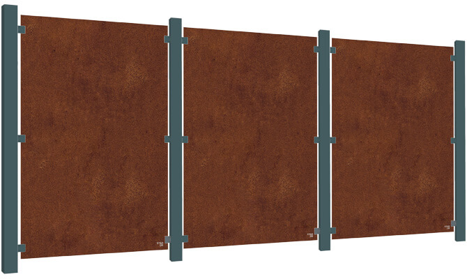 Blank Decorative Garden Screen Kit - Corten Steel