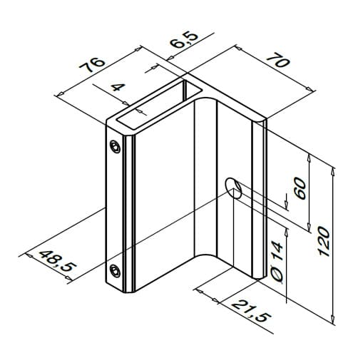 Baluster Bracket - Dimensions