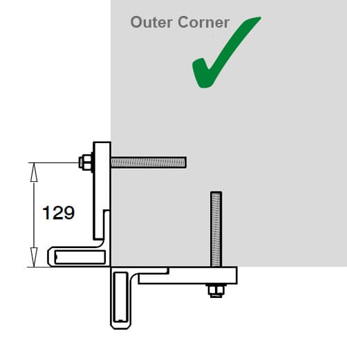 Baluster Bracket - Position