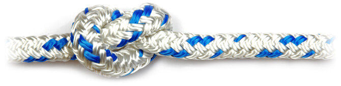 Blue Braid on Braid Polyester Rope